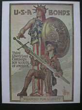 "Reproduction Boy Scouts Third Liberty Loan Poster © 1972 A. Sirkia 17½"" x 22¾"""