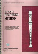 Ed Sueta Recorder Method/ Teacher's Manual/Piano Accompaniment Book 1 ~ G848