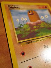NM Pokemon DIGLETT (Sideway Fighting Symbol) ERROR/MISPRINT Card BASE Set 47/102