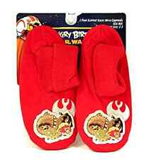 Angry Birds Star Wars Slipper Socks Red Luke Chewbaca Yoda Grippers Sz M/L 2-3