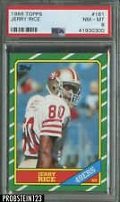 1986 Topps Football #161 Jerry Rice San Francisco 49ers RC Rookie HOF PSA 8