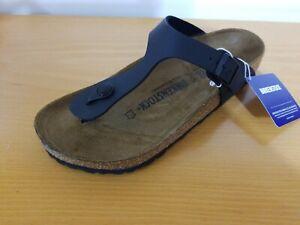Birkenstock Gizeh Birko-Flor Black Women's Sandals  - NEW - Choose Size