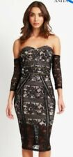 BNWT STUNNING ANITA & GREEN LACE Dress Size 14 L  SPECIAL OCCASION BLACK