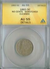 "1883 Uncirculated ""No Cents"" Liberty Nickel ANACS Authenticated AU 55"