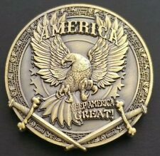 TRUMP Keep America Great 60mm GREAT DETAILS Challenge Coin FREE COIN STAND