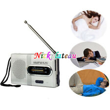 Mini Portable Pocket AM/FM Telescopic Antenna Battery Powered Radio Receiver NEW