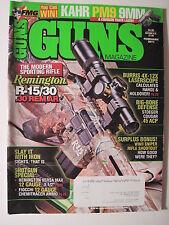 Guns Magazine February 2011. Remington R-15/30 Burris 4X-12X Laserscope Fiocchi
