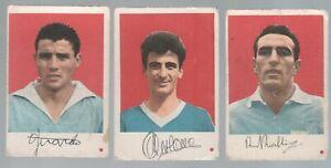 Figurine Calcio Cartonate EDI E.D.I.1962/63 Calciatori Napoli 3 diverse