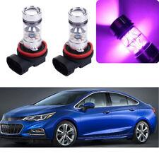 2x 14000K Purple LED Headlight Bulb Kit Fog Light For Chevrolet Cruze 2010-2018