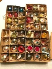 Lot of 48 Antique Delicate Glass Christmas Ornaments medium size