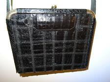 Krokotasche IRV Krokodilleder Handtasche Alligator Crocodile Leather Bag Vintage
