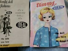 Ideal Tammy Family doll clothes BOOKLET lot of 2 vintage 1960's book reference