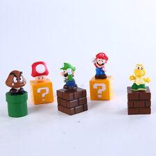 5pcs Super Mario Brothers Bros Action Figures LUIGI TOAD KURIBO KOOPA TROOPA