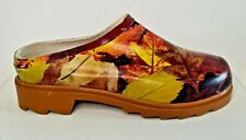 More details for mens womens gardening shoes autumn leaves heavy duty waterproof fast free p&p!
