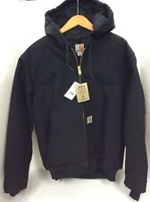Carhartt Men's Quilted Flannel Lined Duck Active Jacket J140 Black Large