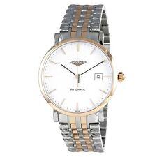 New Longines Elegant Collection Two Tone Steel Bracelet Mens Watch L49105127