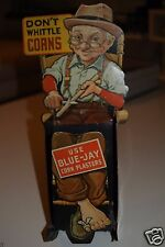 Grandpa Blue-Jay Corn Plaster Advertising Metal Display