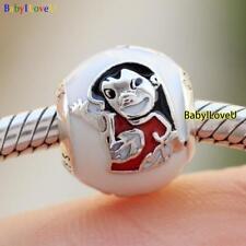 925 Sterling Silver Disne Lilo & Stitch Charm Mixed Enamel Ohana Bead F Bracelet