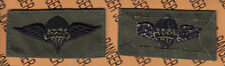 US Army Airborne Parachutist RIGGER wing OD Green & Black cloth patch sewn