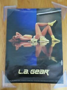 Vintage Original Promotional LA Gear Sexy Girl in Sneakers Poster