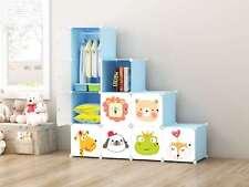 DIY 10 Cube Closet Wardrobe Modular Storage Organizer Clothes  Kids Furniture