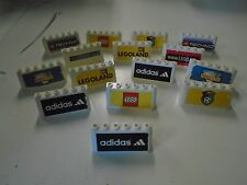 Lego Bulk Lot of 15 Soccer Stadium Logos Adidas Technic Legoland Mindstorms