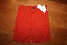 NWT Gymboree Denim and Tees Size 5 Orange Woven Chino Prep Fit Shorts