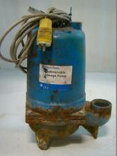 Itt Goulds Submersible Sewage Pump 13hp 115v 1725rpm Singlephase Ws0311b