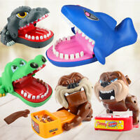 Kids Cute Dog/Shark/Crocodile/Dinosaur Mouth Dentist Bite Finger Game Funny Toys