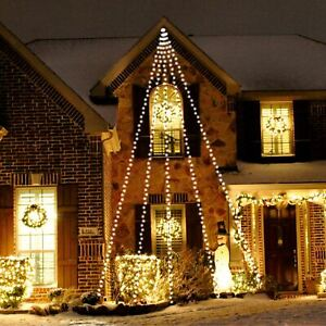 300 White Led Christmas Xmas Decoration Waterfall Fairy String Lights In/Outdoor