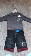 Baby Boys Jeans and Top Set, 3-6 Months - Brand New