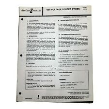 Hp Model 10014a 101 Voltage Divider Probe Operating Note Feb 1980