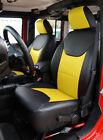 Jeep Wrangler Jk 2013-2018 4doors Blackyellow S.leather Frontrear Seat Covers