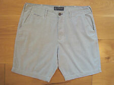 """EX COND homme American Eagle Shorts W40"""" 100% Coton Mince PIN STRIPE"""