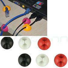 Kit 6in1 reggi ferma cavo clip caduta porta cavetto organizer tavolo scrivania