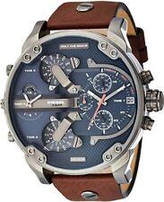 Neu Diesel DZ7314 Mr. Daddy 2.0 Braun Leder Chronograph Herren Uhr