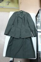 Womens Sage Green Army Wool Skirt Suit Statham Corp