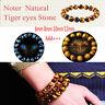 Blaue Tiger Auge Buddha Armbänder Naturstein Runde Perlen Elastizität Seil Männe