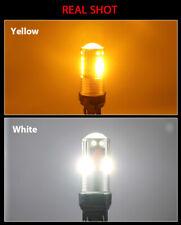 2PCS  3157 3030 LED White Driving Amber Turn Signal Light Bright Bulbs Lamps