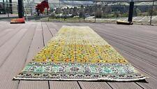 """Beautiful Antique 1940's Natural Dye Wool Pile  Hereke Runner Rug 2'4""""x 9'4"""""""