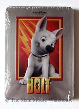 Disney Aspiring Superhero Dog Bolt on DVD in Real 3D Collectible Tin Packaging
