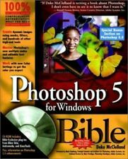 Photoshop 5 for Windows Bible by Deke McClelland (1998, Paperback)