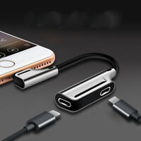 2 in 1 Lightning Adapter For iPhone 3.5mm Headphone Audio Charge Cable Splitter