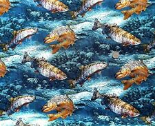 Wild Wings Trout fabric fq 50x56 cm 100% Cotton Springs 37130-105