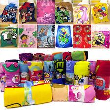 Boy's Official Disney Kids Cartoon Characters Soft Fleece Blanket / Throw