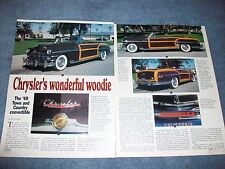 1949 Chrysler Town & Country Convertible History Info Article