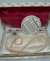 Beautiful vintage Childs Rosita Simulated Pearl Costume Necklace Unused Boxed