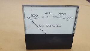 1PC 0-800 AMPS AC 400HZ CROMPTON PANEL METER