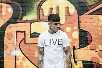 White LIVE Tshirt Size S,M,L,XL - Superdry, sik silk, gym king, bee inspired
