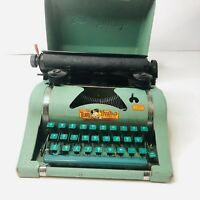 Vintage Tom Thumb Toy Type Writer Tin Body with cover - original ribbon - works